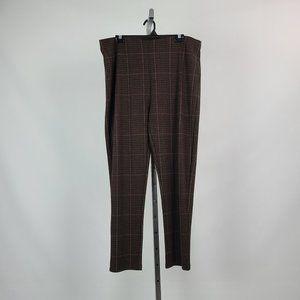 Le Chateau Brown Check Slim Pants Size XXL
